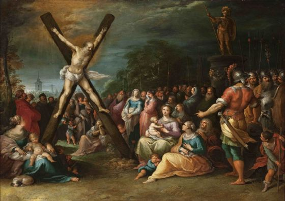 Francken, Frans the Younger: St Andrew on the Cross. Fine Art Print/Poster. Sizes: A4/A3/A2/A1 (001508)